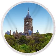 Salt Lake City Hall Round Beach Towel