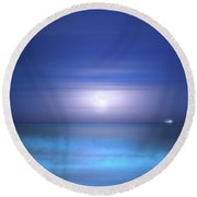 Round Beach Towel featuring the photograph Salt Moon by Mark Andrew Thomas