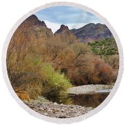 Salt River Pebble Beach Round Beach Towel