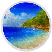 Salt Water Beach Round Beach Towel