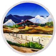 Salt Works - Port Alma Round Beach Towel by Therese Alcorn