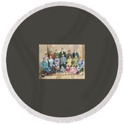 Saltimbanques Round Beach Towel