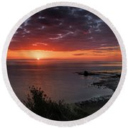 Saltwick Bay Sunrise  Round Beach Towel