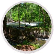 Saluda River Columbia Sc Round Beach Towel