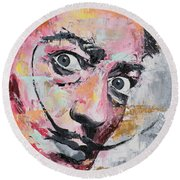 Salvador Dali Round Beach Towel