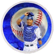 Salvador Perez-kc Royals Round Beach Towel