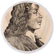 Salvatore Rosa 1615-1673 Italian Artist Round Beach Towel