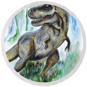 Salvatori Dinosaur Round Beach Towel