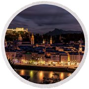 Round Beach Towel featuring the photograph Salzburg Austria by David Morefield