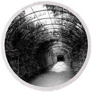 Salzburg Vine Tunnel - By Linda Woods Round Beach Towel