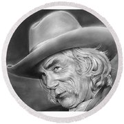 Sam Elliott Round Beach Towel