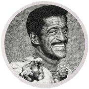 Sammy Davis Jr - Entertainer Round Beach Towel