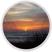 Samoa Dunes Sunset Round Beach Towel