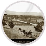 Samuel J. Duckworth Pauses To Look Upon What Would Become Carmel 1890 Round Beach Towel