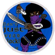 True Ninja Round Beach Towel