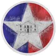 Round Beach Towel featuring the digital art San Antonio City Flag by JC Findley
