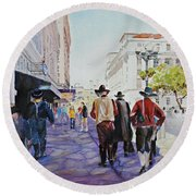 San Antonio Cowboys Round Beach Towel