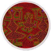 Round Beach Towel featuring the digital art San Blas Shaman Spirits by Vagabond Folk Art - Virginia Vivier