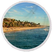 Round Beach Towel featuring the photograph San Clemente Coastline - California by Glenn McCarthy Art and Photography