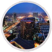San Diego Bay Round Beach Towel
