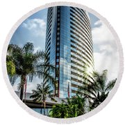 San Diego Marriott Marquis Round Beach Towel