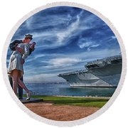 San Diego Sailor Round Beach Towel