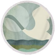 San Diego Zoo  Round Beach Towel