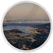 San Francisco Bay Area Round Beach Towel