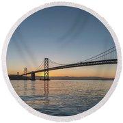 San Francisco Bay Brdige Just Before Sunrise Round Beach Towel