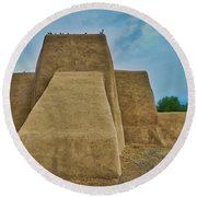San Francisco De Asis Mission Church Taos Round Beach Towel