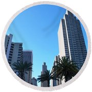 San Francisco Embarcadero Center Round Beach Towel