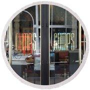 San Francisco Gumps Department Store Doors - Full Cut - 5d17094 Round Beach Towel