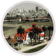San Francisco Panorama 2015 Round Beach Towel