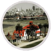 San Francisco Panorama 2015 Round Beach Towel