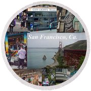 Round Beach Towel featuring the photograph San Francisco Poster by Joan Reese