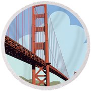San Francisco Poster  Round Beach Towel