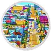 San Francisco Quintara View Round Beach Towel