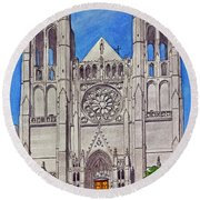 San Francisco's Grace Cathedral Round Beach Towel