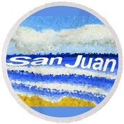 San Juan  Round Beach Towel by Dick Sauer