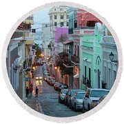 San Juan Evening Glow Round Beach Towel