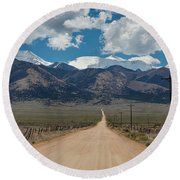 San Luis Valley Back Road Cruising Round Beach Towel by James BO Insogna