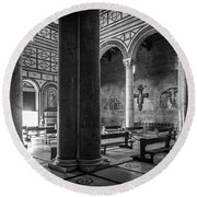 Round Beach Towel featuring the photograph San Miniato Al Monte by Sonny Marcyan