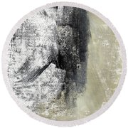 Sand And Steel- Abstract Art Round Beach Towel