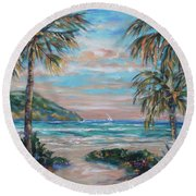Sand Bank Bay Round Beach Towel