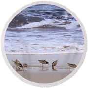Sand Dancers Round Beach Towel by Steven Sparks