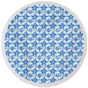 Sand Dollar Delight Pattern 1 Round Beach Towel