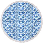Sand Dollar Delight Pattern 2 Round Beach Towel