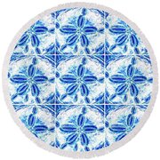 Sand Dollar Delight Pattern 3 Round Beach Towel