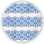 Sand Dollar Delight Pattern 4 Round Beach Towel