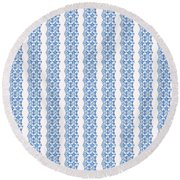 Sand Dollar Delight Pattern 5 Round Beach Towel